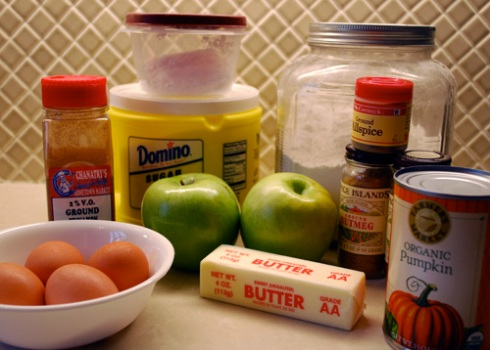 Pumpkin Apple Bread ingredients